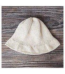 100% alpaca hat, 'snowdrop' (peru)