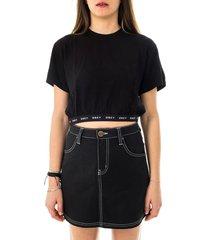 obey t-shirt donna glen aspen top 231080115.blk
