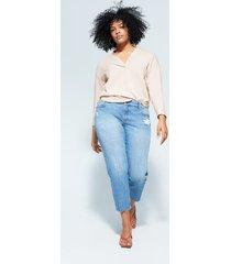 blouse met knoopdetail
