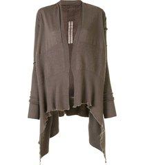 rick owens draped-back cardigan - metallic