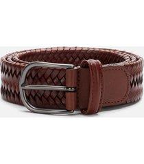 anderson's men's matt buckle woven belt - brown - w36/xl