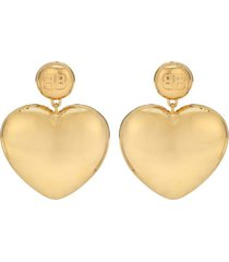 shiny gold susi heart earrings