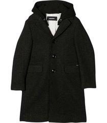 diesel black coat