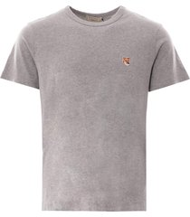 fox head patch t-shirt - grey melange 103008-gry