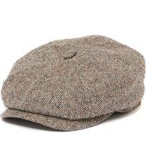 stetson hatteras silk brown herringbone newsboy cap 6842501