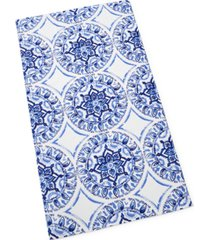 martha stewart collection global medallion beach towel, created for macy's bedding
