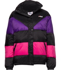 women reilly puff jacket gevoerd jack multi/patroon fila