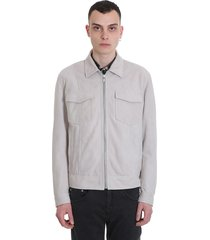 drome casual jacket in white leather
