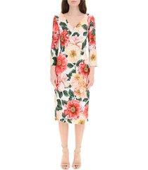camellia print cady jurk