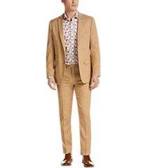 paisley & gray slim fit suit separates jacket tan