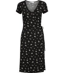 knit midi dress knälång klänning svart hollister