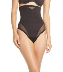 women's tc sheer inset high waist shaper thong