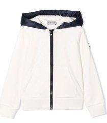 moncler cream cotton hoodie