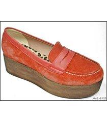 mocasín rojo tamara shoes