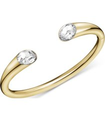 calvin klein crystal cuff bracelet in gold-tone pvd
