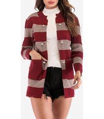 cardigan con tasche a patchwork lavorate a maglia