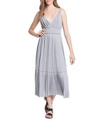 plisse pleated jersey slip dress