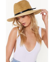 womens this is the last straw wide brim hat - cream