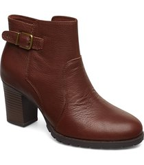 verona gleam shoes boots ankle boots ankle boots with heel brun clarks