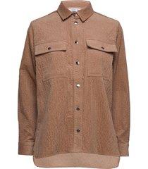 leonora shirt 11305 overhemd met lange mouwen bruin samsøe & samsøe