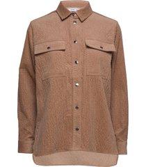 leonora shirt 11305 overhemd met lange mouwen bruin samsøe samsøe
