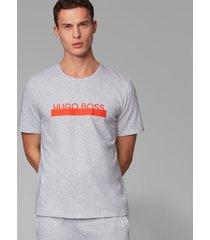 hugo boss t-shirt - logo grijs/oranje