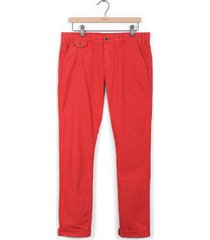 pantalón cavalier color siete para hombre - rojo