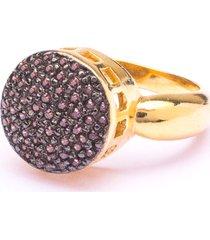 anel boca santa semijoias encantato chocolate ouro amarelo