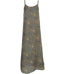 uma wang anaya long dress thin strap multicolour