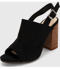 sandalia tacón negro xti