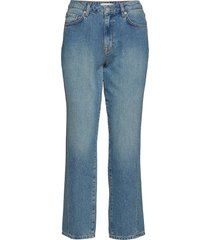 slfjane mw straight mineral blue jeans w raka jeans blå selected femme