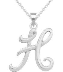 capital initial pendant in sterling silver