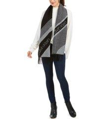 calvin klein tri-color spliced woven scarf