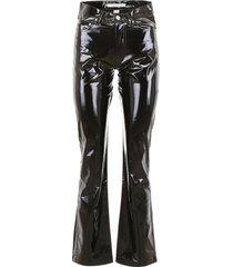 calvin klein jeans vinyl trousers