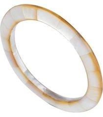 mother of pearl bracelet, women's, white, josie natori
