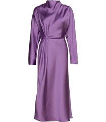 damai, 936 lilac sheen cady jurk knielengte paars stine goya