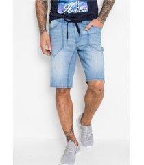 regular fit jeans bermuda met elastische band
