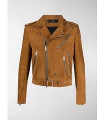 amiri leather biker jacket