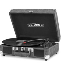 innovative technology victrola 3-speed bluetooth suitcase record player