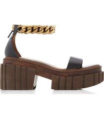 emilie vegan nappa chain platform sandal