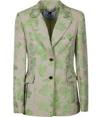 blumarine tropical print blazer