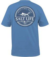 salt life men's forecast pocket tee