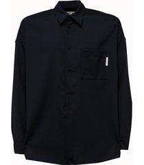 marni camicia in lana tinta unita