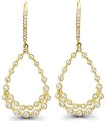 macy's cubic zirconia bezel 14k gold diamond cut pear shaped earrings