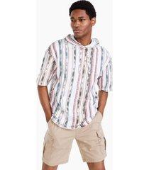 sun + stone men's arizona short-sleeve hoodie, created for macy's