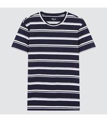 camiseta para hombre franjas azules