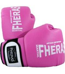 luva boxe muay thai fheras new orion pró rosa 06 oz .
