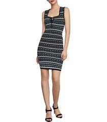 dotted stripe bodycon dress