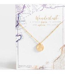 wanderlust globe pendant necklace - gold