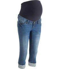 jeans capri prémaman con risvolto a quadretti (blu) - bpc bonprix collection